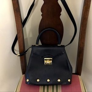 Salvatore Ferragamo Top Handle Studded Bag